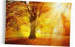 Autumn Fall Tapestry Wall Hanging Golden Sunlight Sunset Forest Trees 59quot;x82.6quot;