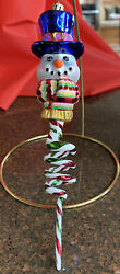 Radko Christmas Ornaments Vintage Snowman Twisted Icicle Body