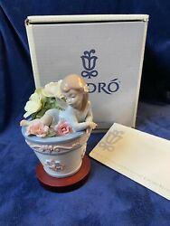 Rare Lladro Signed Butterfly Fantasy 1846 Mint W Box Base Retired