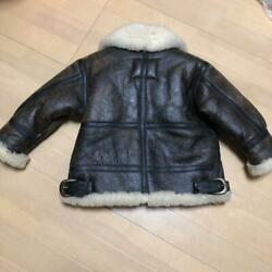 Schott Type B-3 Flight Size M Leather Jacket For Kids Made In Usa