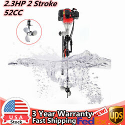 2.3hp 2 Stroke 52cc Outboard Motor Cdi System Manual Start Boat Engine 8500rpm