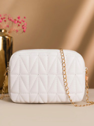 Quilted Chain Crossbody Bag $30.00