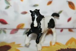 .#5425 Breyer Stablemates Horse Clydesdale G2 Black White Pinto