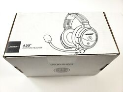 Bose A20 Aviation Headset With Bluetooth Dual Plug Cable- Brand New - Never Used