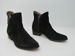Seychelles And039lucky Pennyand039 Black Suede Double Zip Ankle Boot Size Womenand039s 7