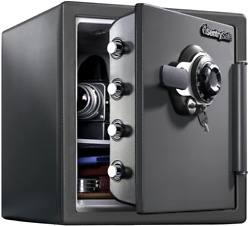 Sentrysafe Sfw123dsb Fireproof Safe And Waterproof Safe With Dial Combination 1.
