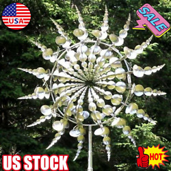 Unique Magical Metal Windmill Outdoor Wind Spinner Exotic Yard Garden Decoration
