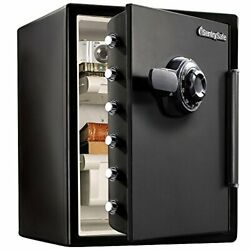 Sfw205cwb Fireproof Waterproof Safe With Dial Combination, 2.05 Cubic Feet,black