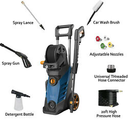 3800psi 2.8gpm Electric Pressure Washer 1800w Water Cleaner Sprayer 4nozzle Usa
