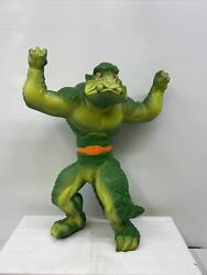 Krusher Green Monster 1979 Stretch Armstrong Enemy Mattel Works Air Tight