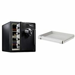 Sfw123cu Fireproof Waterproof Safe With Dial Combination, 1.23 Cubic Feet, Black