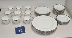 44 Piece Set Of Wedgwood Sterling Discontinued Bone China Vintage 1999 Read