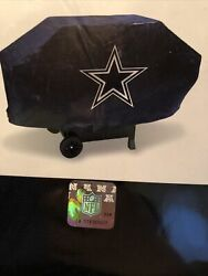 Dallas Cowboys Vinyl Padded Deluxe Grill Cover [new] Nfl Grilling Barbeque