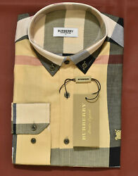 Brand New With Tags Men#x27;s BURBERRY Long Sleeve Slim Fit Shirt $69.90