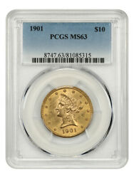 1901 10 Pcgs Ms63 - Liberty Eagle - Gold Coin