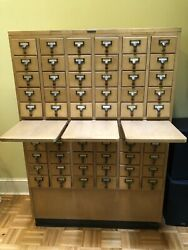 Vintage Library Card Catalog Cabinet