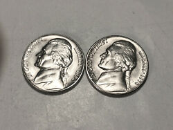 1950 P-d Choice/gem Bu Uncirculated Jefferson Nickels Two Coin Set Group212