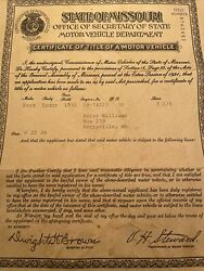 1932 Ford Tudor Certificate Of Title Coupe Truck Hotrod Collectible Rare