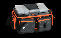 Soft Sided Waterproof Fishing Tackle Box Bag With Boxes Backpack Large Black New