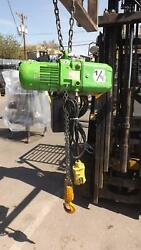 2000 Lbs Industrial Electric Chain Hoist W Control 3 Phase Ac Motor 10 Ft