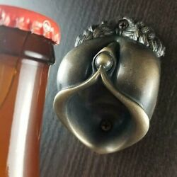 Vintage Cast Iron Wall Mounted Beer Bottle Opener Antique Old Style