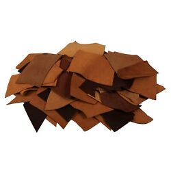 Large Pieces Leather Scrap Bag 5 10Lb Full Grain Cowhide Leather for Crafting $38.97