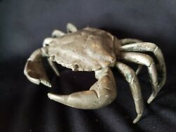Antique Sterling Silver Crab Ring Trinket Box