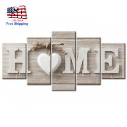 5Pcs Unframed Wall Art Paintings Modern Canvas Printing Picture Home Room Decor