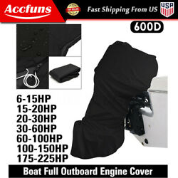 Fit 6 - 225hp Motor Full Outboard Boat Engine Covers 600d Oxford Waterproof