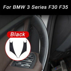 2pcs Black Cover Protect Case Inner Door Handle Sheath Inside For Bmw 3/4 Series