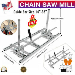 Chainsaw Mill 14-36in Portable Chain Saw Mill Aluminum Steel Planking Lumber
