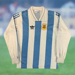 Argentina 1992/93 L/s Home Soccer Jersey Xs Youth Large Adidas Diego Maradona