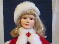 Telco Motion-ettes Of Christmas Caroler Rubyanimated Lighted 24 Figure Tested