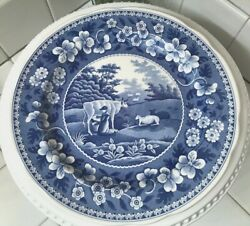 Free Ship The Spode Blue Room Collection Milkmaid Dinner Plate Made In England
