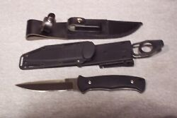 Al Mar S30v Sawback Knife With 2 Sheaths Made In The Usa Used Excellent Conditon