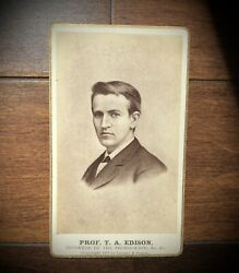 Rare 1878 Cdv Photo Of Thomas Edison Inventor By Lovejoy And Foster Chicago