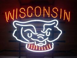 Wisconsin Vintage Club Pub Neon Light Sign Home Decor Real Glass 17