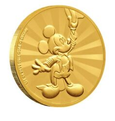 Mickey Mouse Friends Carnival Gold Coin 1/4 Oz Andldquomintage Just 100 Worldwide