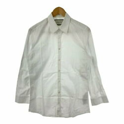 Secondhand Mens Regular Shirt Tops Outer Long Sleeve Dress White Size 38