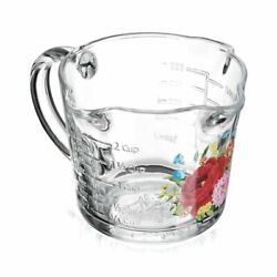 The Pioneer Woman Sweet Rose Design 3 Spout 2 Cup Glass Measuring Cup