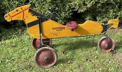 1920's Rolls Racer Horse Antique Pedal Ride On Toy Lewis E. Myers And Co.