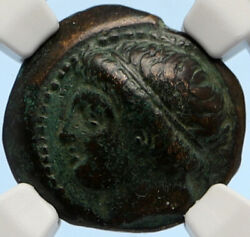 Macedonia Of Philip Ii Ancient Old Greek Coin Apollo Olympic Horse Ngc I95637