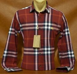 NWT Brand New With Tags Men#x27;s BURBERRY Long Sleeve Slim Fit Shirt $59.90