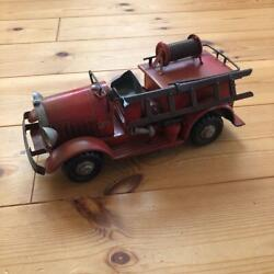 Vintage Tin Toy Car Retro Back Part Has Come Off From Japan