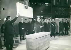 Laying Of The First Stone Of The New Grand Poste In - Vintage Photograph 3437645