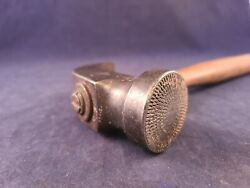 Vintage Cobblers Or Leather Workers Hammer Milled Face Leather Tool