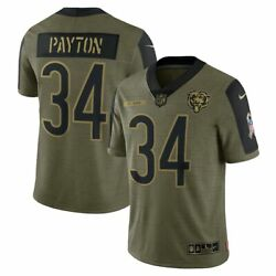 Chicago Bears Walter Payton 34 Nike Olive 2021 Salute To Service Limited Jersey
