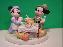 Lenox A Day Of Thanksgiving Mickey Sculpture New In Box With Coa Minnie Mouse