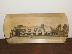 Vintage 16 1/4 X 7 5/8 The Lodge Howe Caverns Ny Ps-27 Wood Souvenir Tray