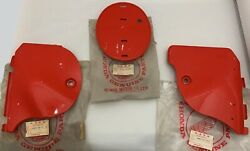 Honda Cr250 1979 Side Covers L+r+front Plate Plastic Oem New 765 768 C1-2r